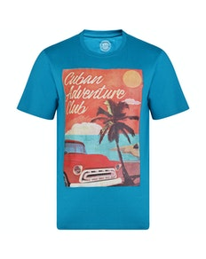 KAM Cuban Printed T-Shirt Breeze