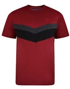KAM Cut & Sew T-Shirt Burgundy