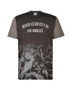 KAM Beach Club Floral T-Shirt Black