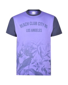 KAM Beach Club Floral T-Shirt Violet