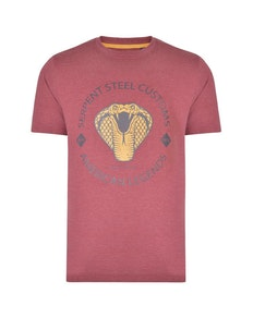 KAM Serpent Steel Club T-Shirt Cordovan