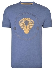 KAM Serpent Steel Club T-Shirt Indigo