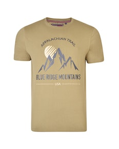KAM Mountain Trail Printed T-Shirt Olive