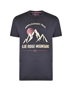 KAM Mountain Trail Printed T-Shirt Black