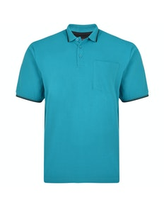 KAM Tipped Polo Shirt Breeze