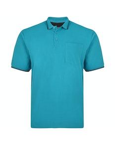 KAM Tipped Polo Shirt Breeze