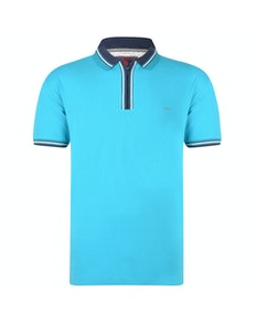 KAM 1/4 Zip Polo Shirt Breeze