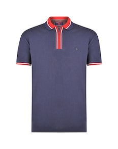 KAM 1/4 Zip Polo Shirt Navy