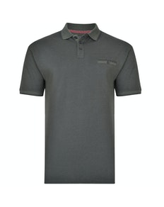 KAM Dobby Weave Polo Shirt Forest