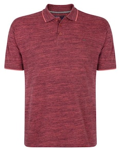 KAM Injected Slub Polo Shirt Cordovan