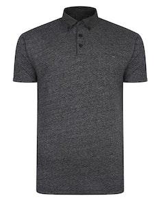 KAM Smart Look Marl Polo Shirt Black