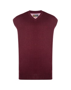 KAM V-Neck Sleeveless Knitted Pullover Wine