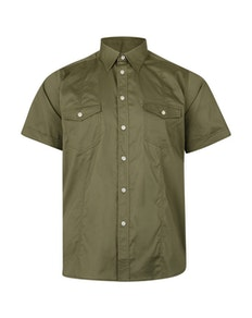 KAM Retro Stretch Short Sleeve Shirt Khaki