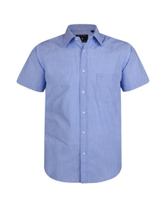 KAM Casual Slub Short Sleeve Shirt Denim