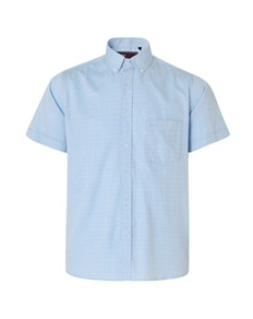 KAM Herringbone Short Sleeve Shirt Sky