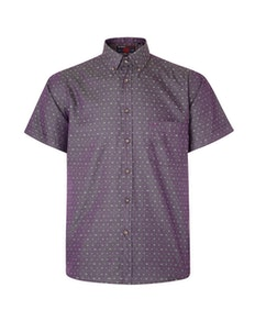 KAM Dobby Weave Short Sleeve Shirt Grape