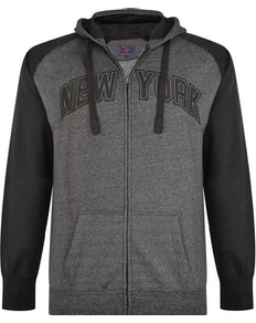 KAM New York Marl Hoody Black/Charcoal