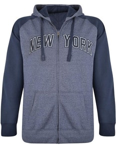 KAM New York Marl Hoody Navy
