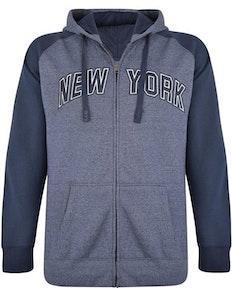 KAM New York Marl Hoody Navy
