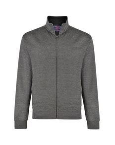 KAM Casual Zip Through Sweater Charcoal