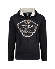 KAM Motor Oil Hoody Black