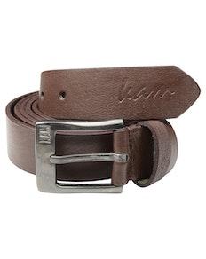 KAM Leather Jeans Belt Brown
