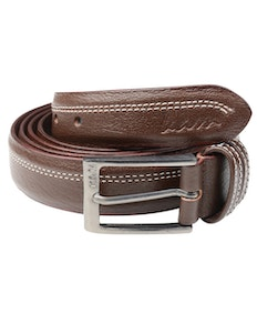 KAM Leather Trouser Belt Brown