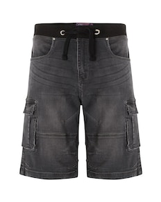 KAM Dito Denim Shorts Charcoal