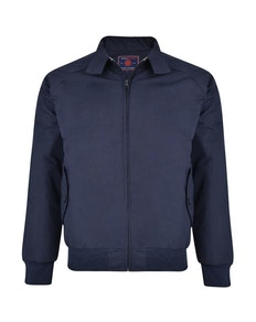 KAM Quilted Harrington Jacket Navy