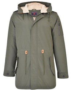 KAM Sherpa Lined Parker Coat Green