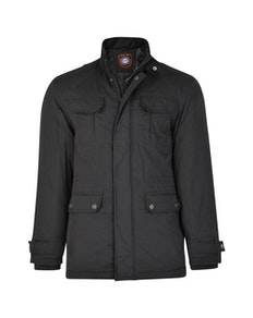 KAM Padded Casual Jacket Black