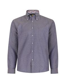 KAM Dobby Weave Shirt Insignia Blue