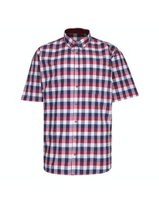 KAM Premium Check Shirt Red