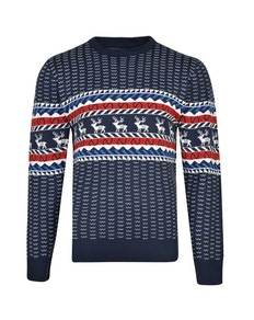 KAM Christmas Rudolph Jumper Navy