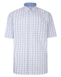 KAM Premium Check Shirt Blue