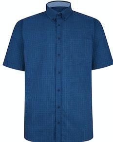 KAM Premium Check Shirt Denim