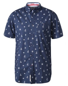 D555 Kirk Nautical Printed Shirt Navy