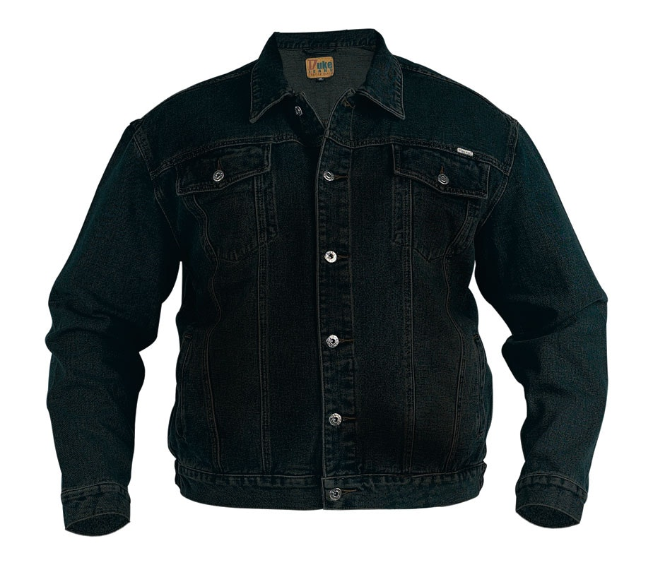 Duke Black Western Style Trucker Denim Jacket