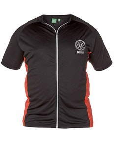 D555 Simpson Full Zip Stretch Cycling Top Black