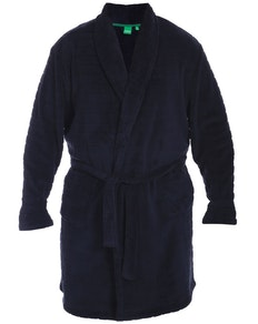 D555 Enno Super Soft Navy Dressing Gown