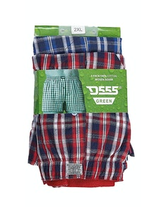 D555 Pack of Two Woven Boxer Shorts- Plaid