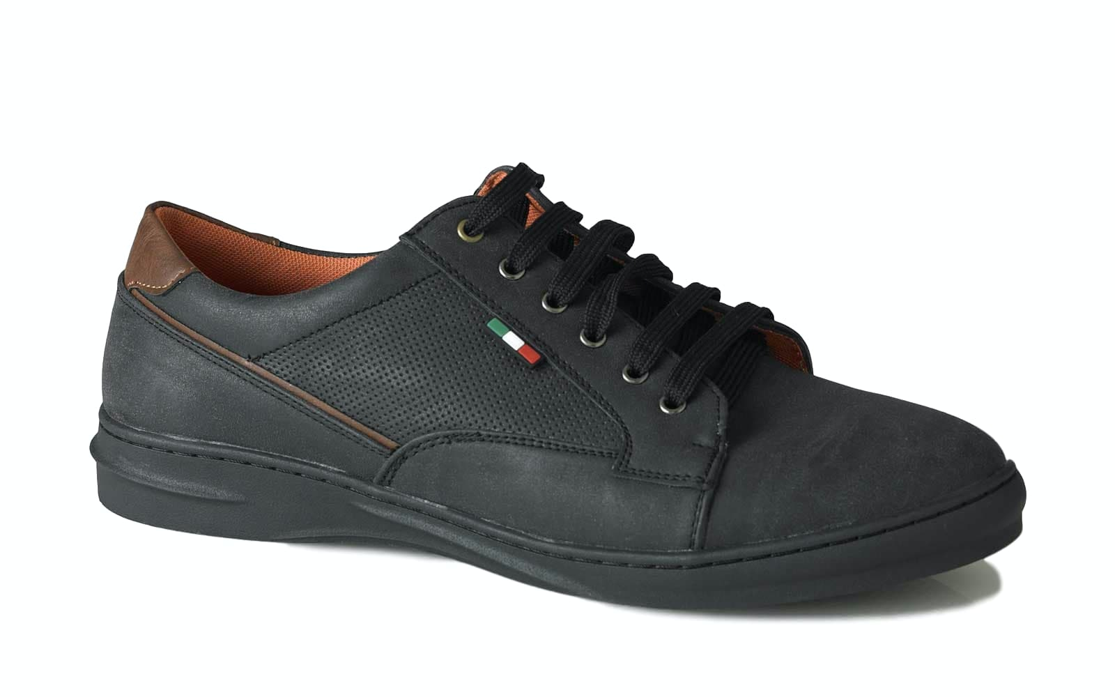D555 Darren Casual Lace Up Shoe Black