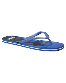 D555 Palm Tree Print Flip Flop Navy