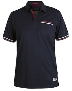 D555 Pickering Taped Shoulder Polo Shirt Navy