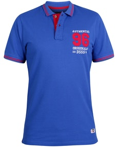 D555 Bartley Applique Polo Shirt Blue