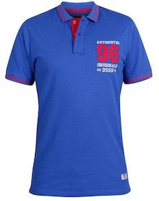 D555 Bartley Applique Polo Shirt Blue