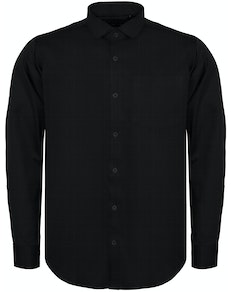 Bigdude Fine Twill Long Sleeve Shirt Black
