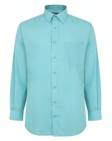 Bigdude Classic Long Sleeve Poplin Shirt Green Tall