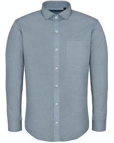 Bigdude Fine Twill Long Sleeve Shirt Light Blue Tall