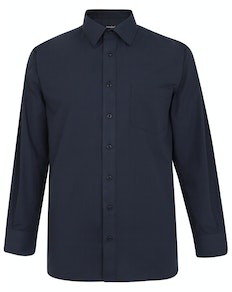 Bigdude Classic Long Sleeve Poplin Shirt Navy